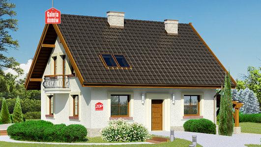 Projekt domu - Dom przy Cyprysowej 20 P