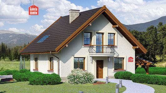 Projekt domu - Dom przy Cyprysowej 12 P