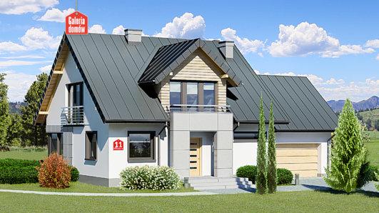 Projekt domu - Dom przy Wiosennej 11