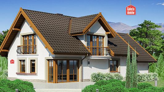 Projekt domu - Dom przy Wiosennej 14