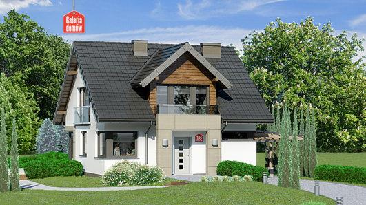 Projekt domu - Dom przy Wiosennej 18