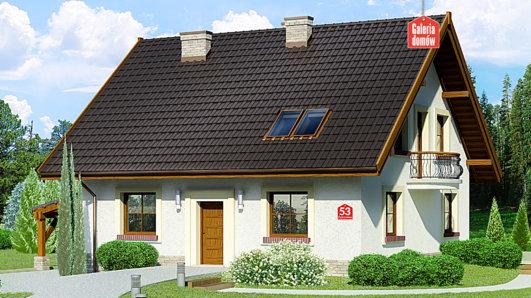 Projekt domu - Dom przy Cyprysowej 53