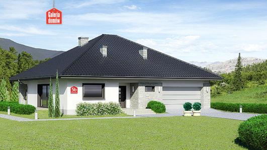 Projekt domu - Dom przy Rubinowej 5 bis