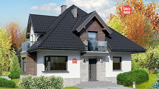 Projekt domu - Dom przy Sielskiej 6 N