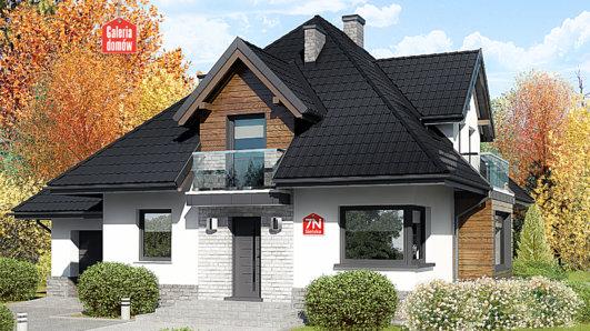 Projekt domu - Dom przy Sielskiej 7 N
