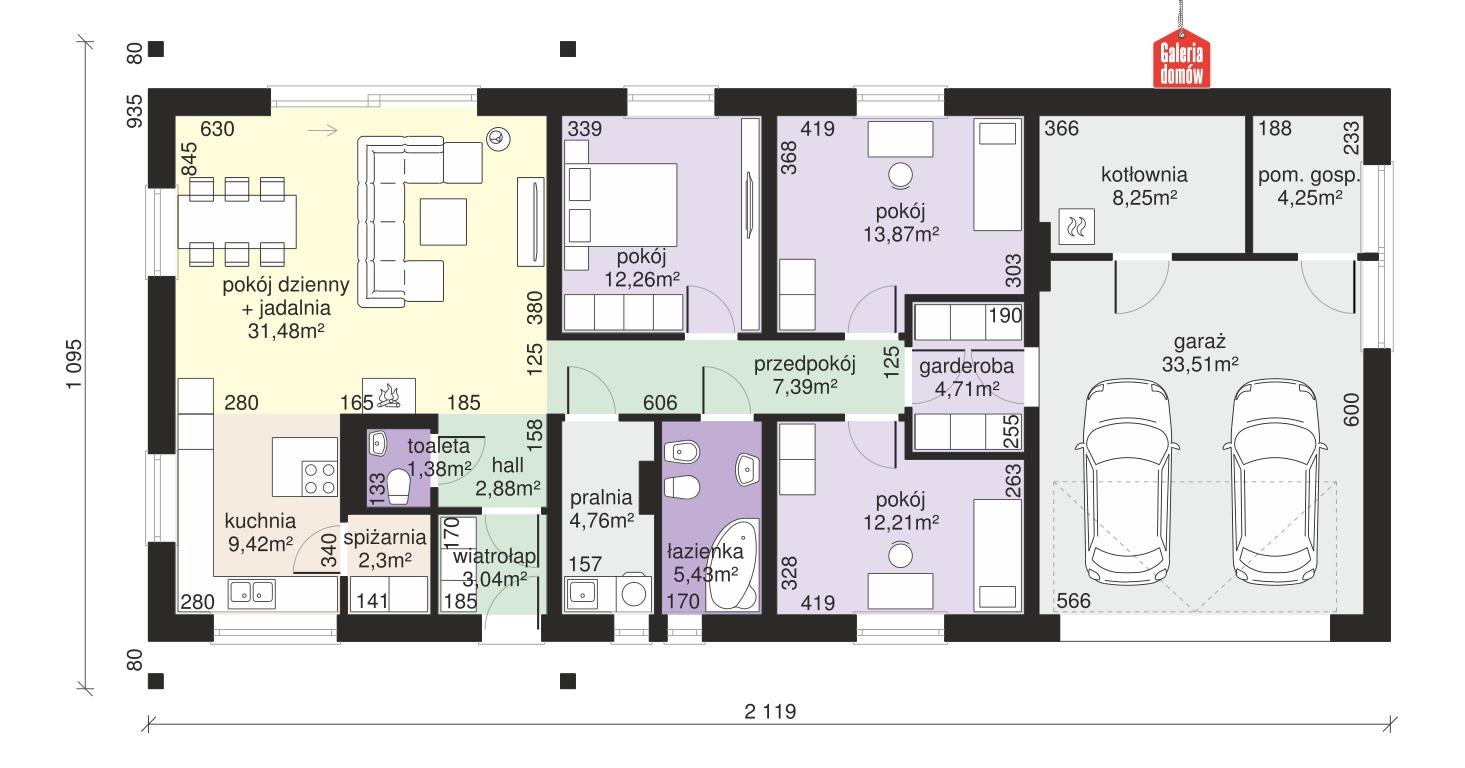 Dom przy Bukowej 8 - rzut parteru