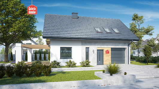 Projekt domu - Dom przy Alabastrowej 37