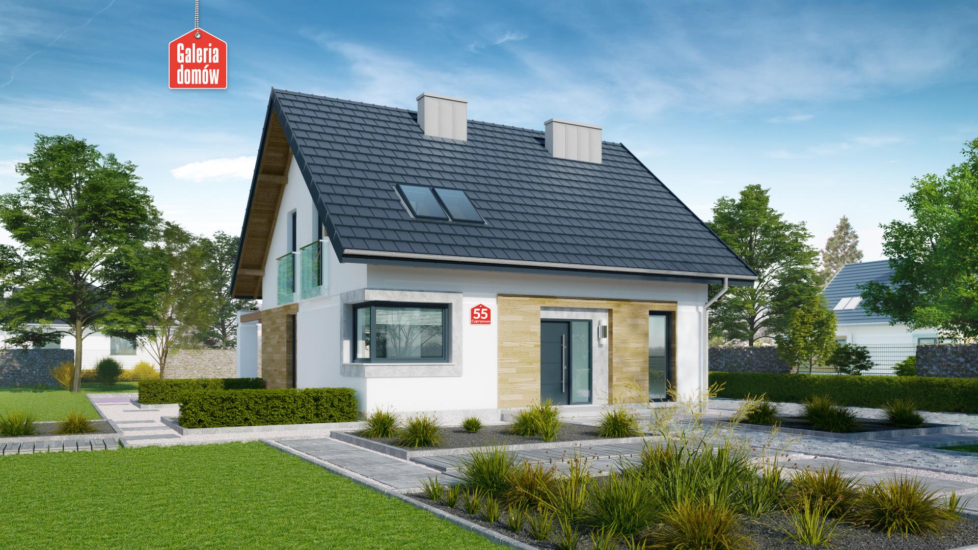 Dom Przy Cyprysowej 55 Gotowy Projekt Domu Jednorodzinnego
