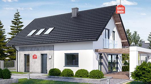 Projekt domu - Dom przy Alabastrowej 39