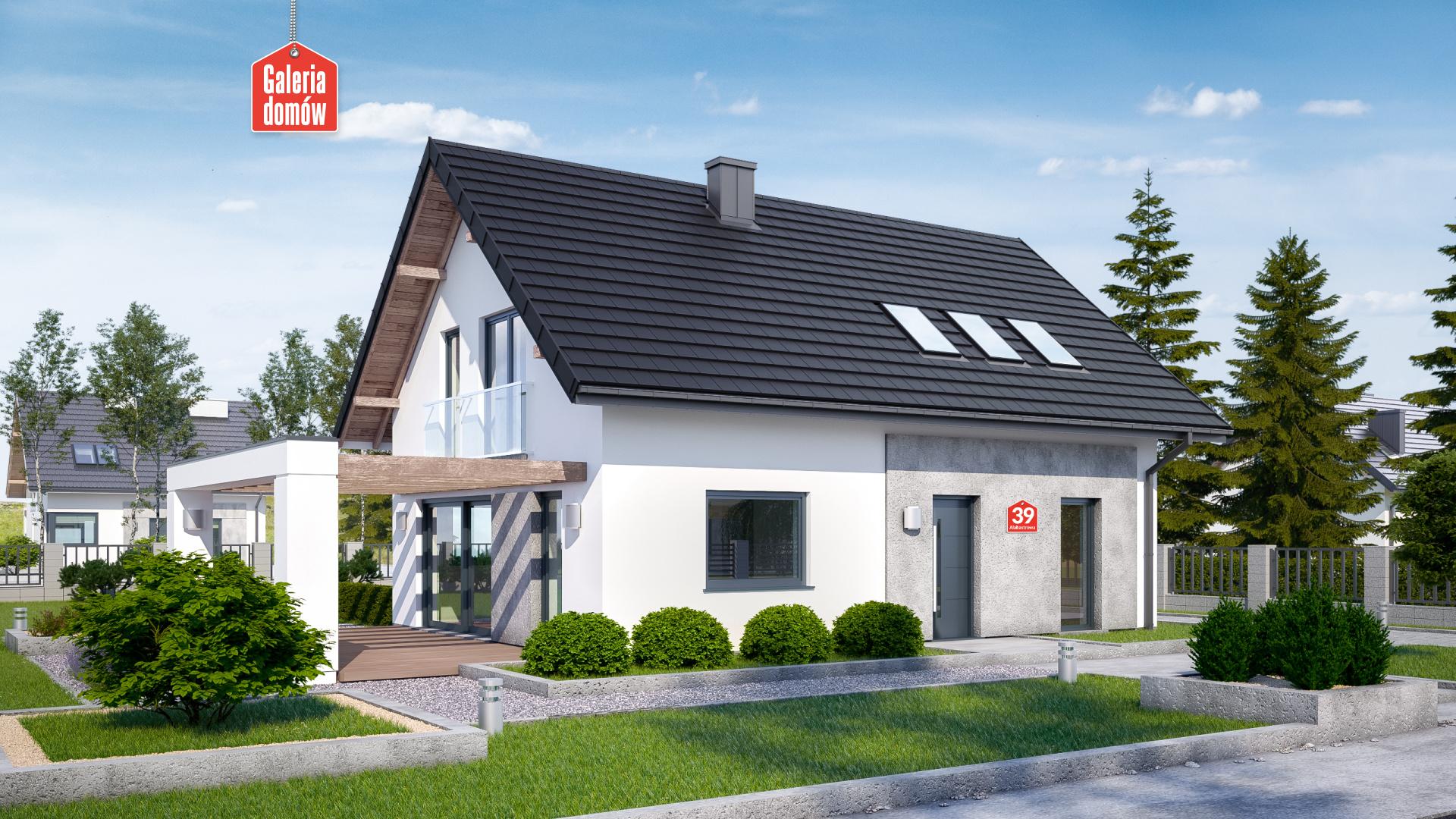 Dom Przy Alabastrowej 39 Gotowy Projekt Domu Jednorodzinnego