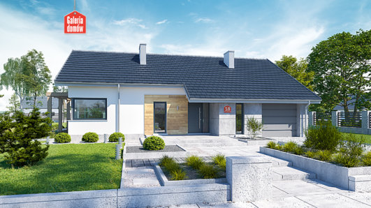 Projekt domu - Dom przy Przyjemnej 18 bis
