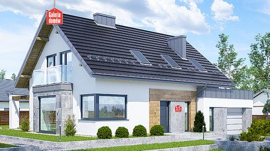 Projekt domu - Dom przy Modrzewiowej 15