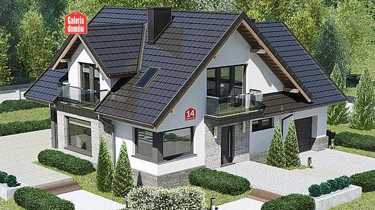 Projekt domu - Dom przy Cyprysowej 14 K