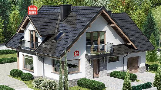 Projekt domu - Dom przy Cyprysowej 14 K2