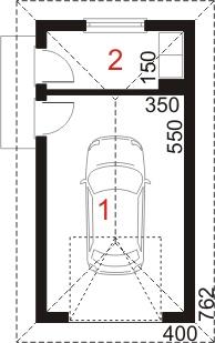 Garaż UPB-G01 - rzut parteru