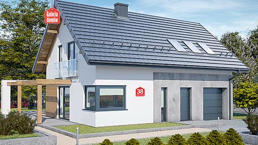 Projekt domu - Dom przy Alabastrowej 38