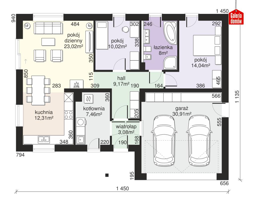 Dom przy Przyjemnej 19 bis - rzut parteru