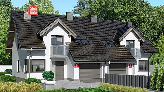 Projekt domu - Dom przy Amarantowej 9 dwulokalowy