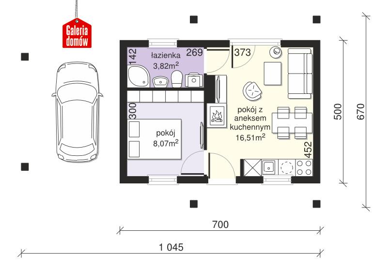 Dom przy Bukowej 35A - rzut parteru