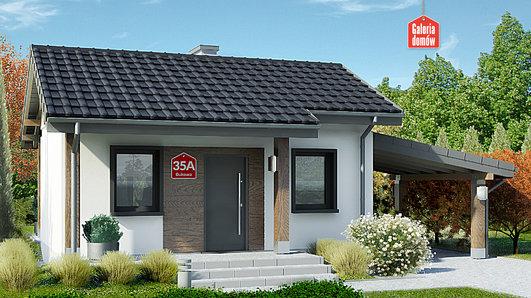 Projekt domu - Dom przy Bukowej 35A