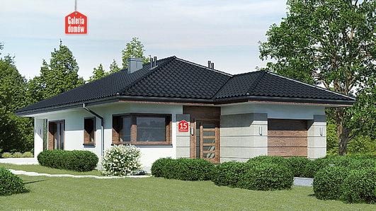 Projekt domu - Dom przy Pastelowej 15