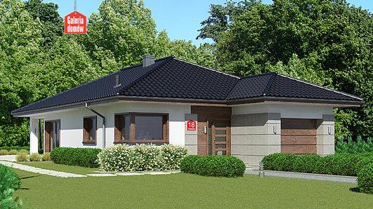Projekt domu - Dom przy Pastelowej 18