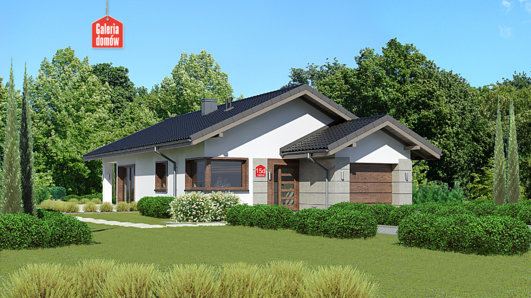 Projekt domu - Dom przy Pastelowej 15 D