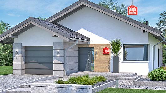 Projekt domu - Dom przy Pastelowej 18 D