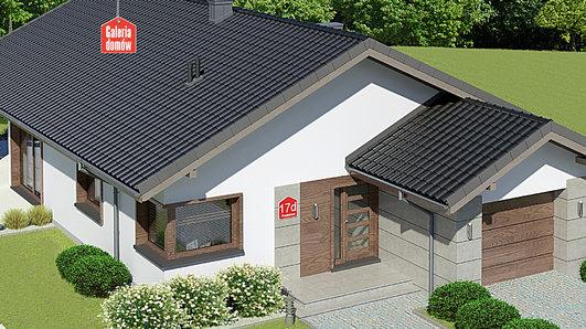 Projekt domu - Dom przy Pastelowej 17 D