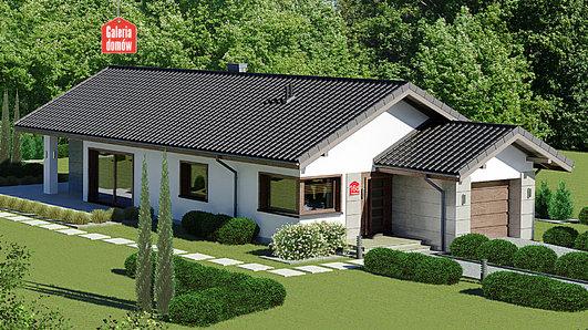 Projekt domu - Dom przy Pastelowej 16 D