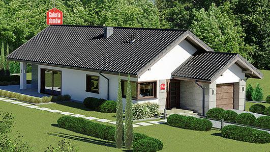 Projekt domu - Dom przy Pastelowej 15 D bis
