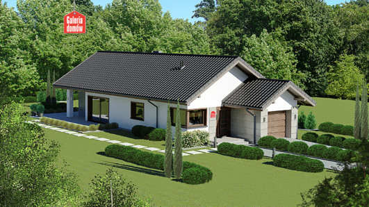 Projekt domu - Dom przy Pastelowej 16 D bis