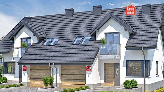 Projekt domu - Dom przy Amarantowej 10 dwulokalowy