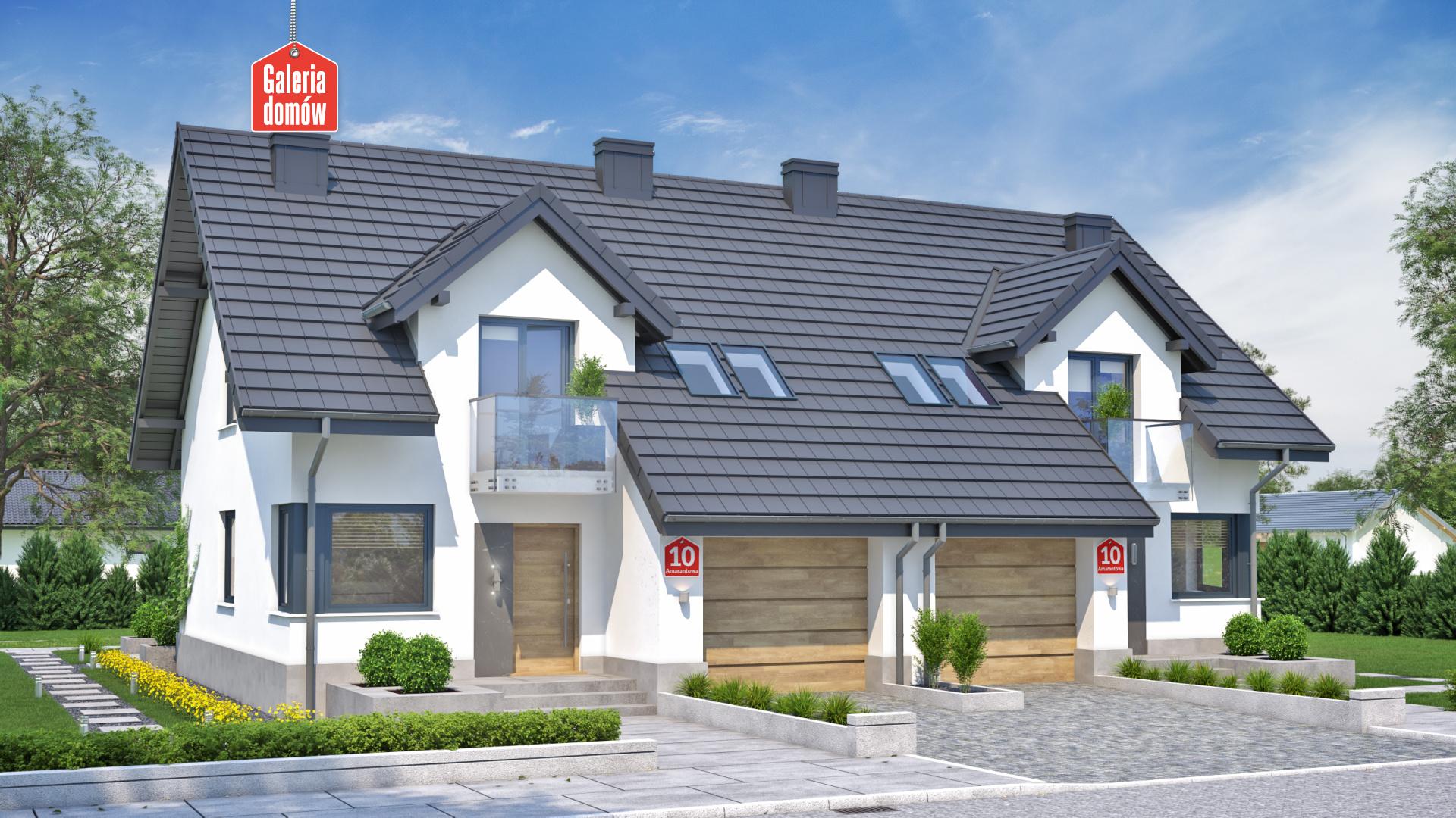 Dom Przy Amarantowej 10 Dwulokalowy Gotowy Projekt Domu
