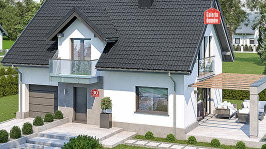 Projekt domu - Dom przy Alabastrowej 30