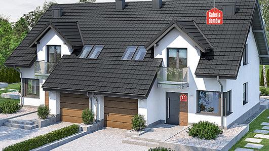 Projekt domu - Dom przy Amarantowej 11 dwulokalowy