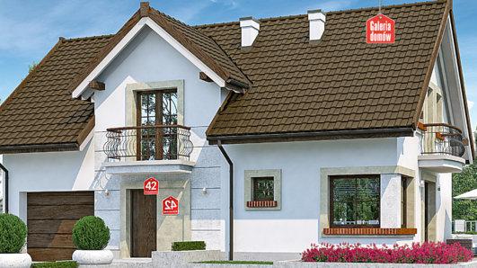 Projekt domu - Dom przy Alabastrowej 42
