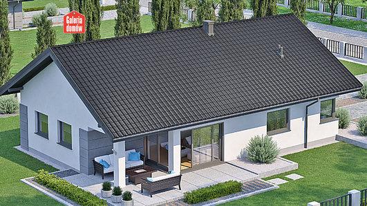 Projekt domu - Dom przy Pastelowej 17 D bis