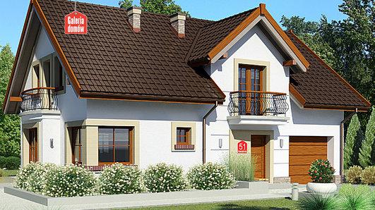 Projekt domu - Dom przy Alabastrowej 51