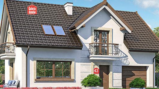 Projekt domu - Dom przy Alabastrowej 43