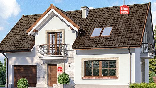 Projekt domu - Dom przy Alabastrowej 44