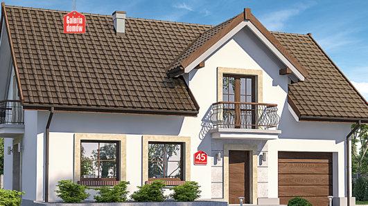 Projekt domu - Dom przy Alabastrowej 45