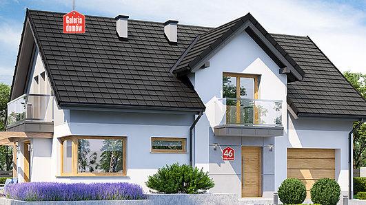 Projekt domu - Dom przy Alabastrowej 46
