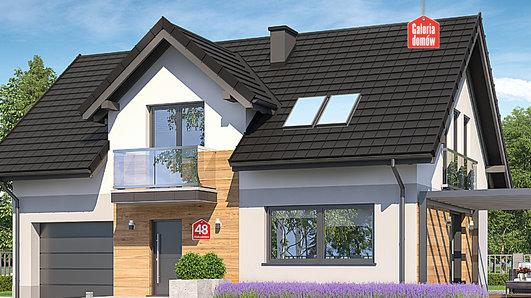 Projekt domu - Dom przy Alabastrowej 48