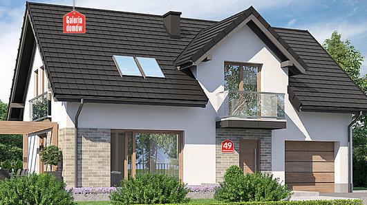 Projekt domu - Dom przy Alabastrowej 49