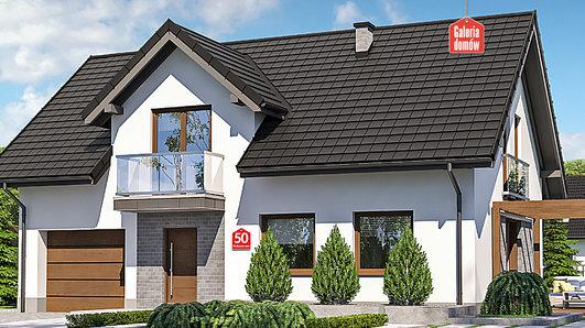 Projekt domu - Dom przy Alabastrowej 50