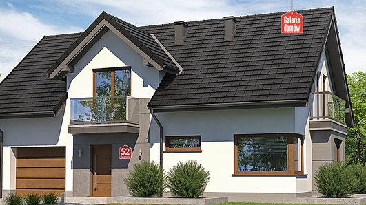 Projekt domu - Dom przy Alabastrowej 52