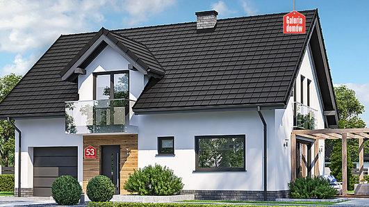 Projekt domu - Dom przy Alabastrowej 53