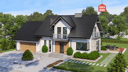 Projekt domu - Dom przy Modrzewiowej 17