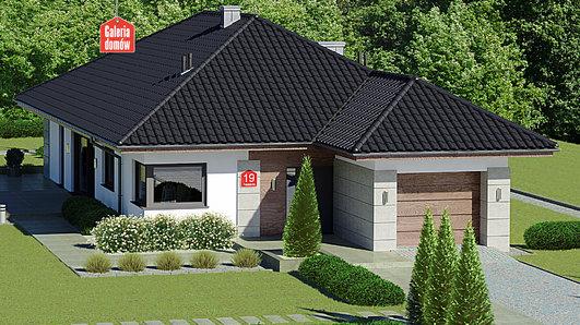 Projekt domu - Dom przy Pastelowej 19 bis